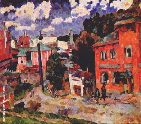 Street of Sergius Painting By Aristarkh Vasilyevich Lentulov