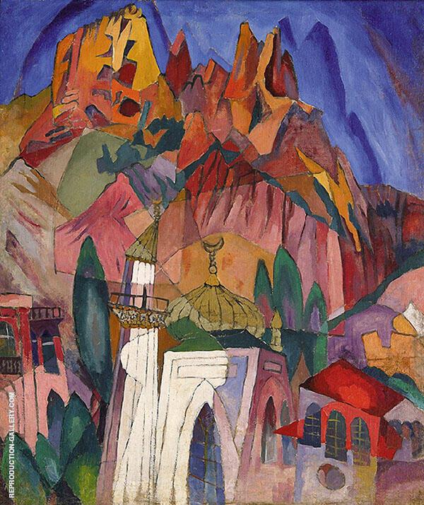 The Old Castle in The Crimea Alupka 1916 By Aristarkh Vasilyevich Lentulov