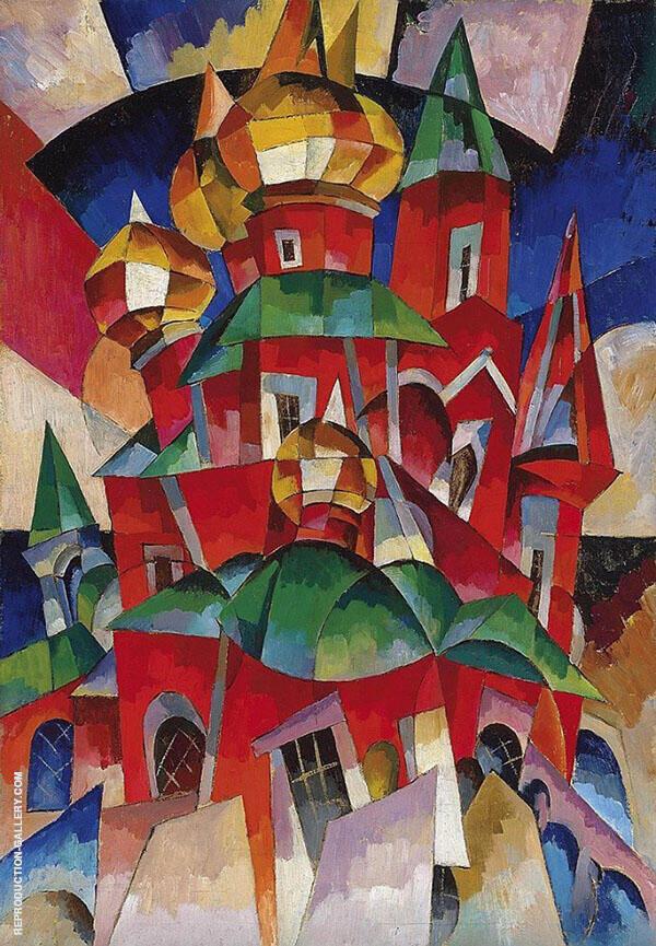 The Red Church Painting By Aristarkh Vasilyevich Lentulov