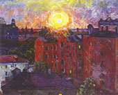 The Sun above The Roofs Sunset By Aristarkh Vasilyevich Lentulov