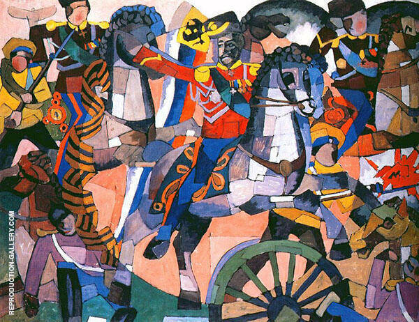 Victory Battle Painting By Aristarkh Vasilyevich Lentulov