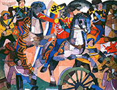 Victory Battle By Aristarkh Vasilyevich Lentulov