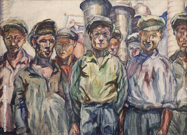 Workers of The Kerch Factory 1930 Painting By ... - Reproduction Gallery