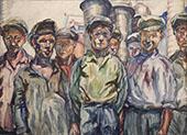 Workers of The Kerch Factory 1930 By Aristarkh Vasilyevich Lentulov