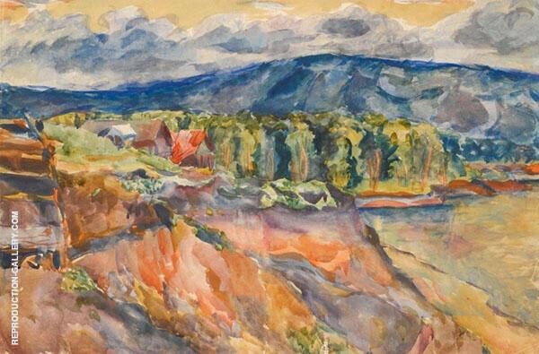 Zhiguli Mountains Painting By Aristarkh Vasilyevich Lentulov