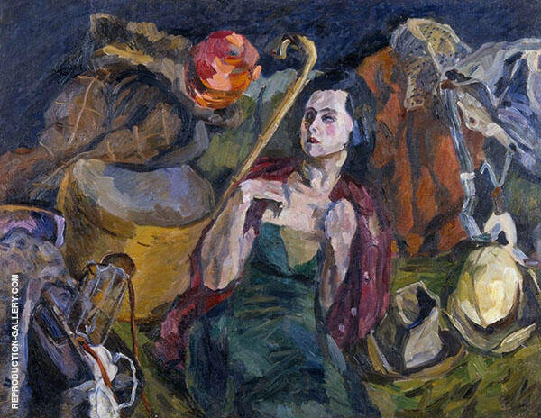 Female Emigrant 1933 Painting By Aristarkh Vasilyevich Lentulov