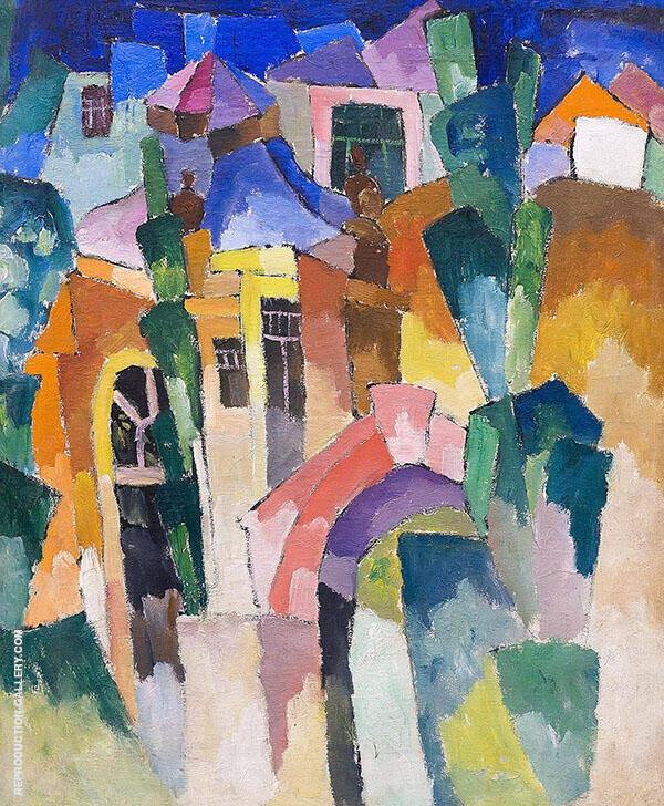 Landscape 1910 Painting By Aristarkh Vasilyevich Lentulov