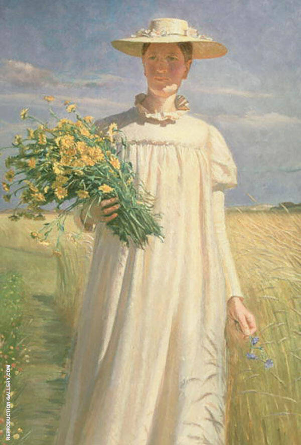 Anna Ancher Returning from Flower Picking 1902 By Michael Peter Ancher