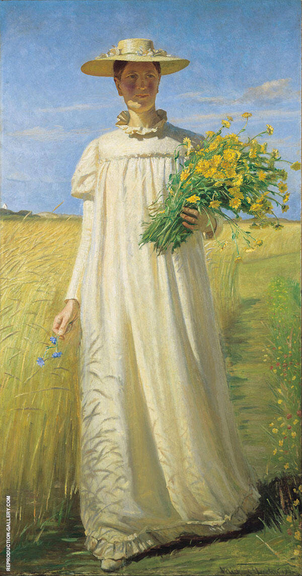 Anna Ancher Returning from The Field By Michael Peter Ancher