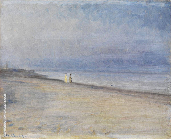 Beach Scene By Michael Peter Ancher