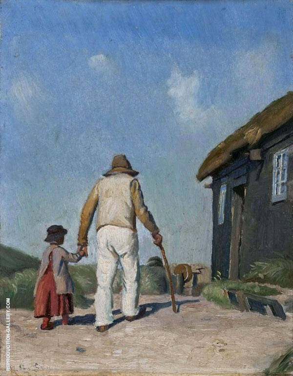 Blind Christian Study By Michael Peter Ancher