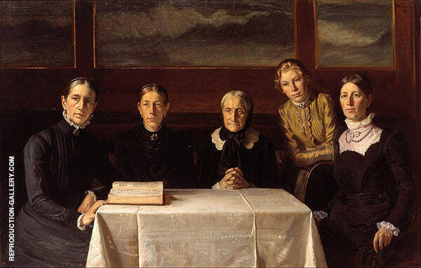 Christmas Day 1900 By Michael Peter Ancher