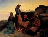 Fisherwomen on a Summer Eve By Michael Peter Ancher
