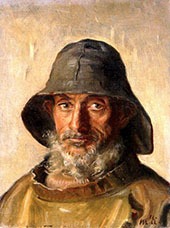 Portrait of a Fisherman By Michael Peter Ancher