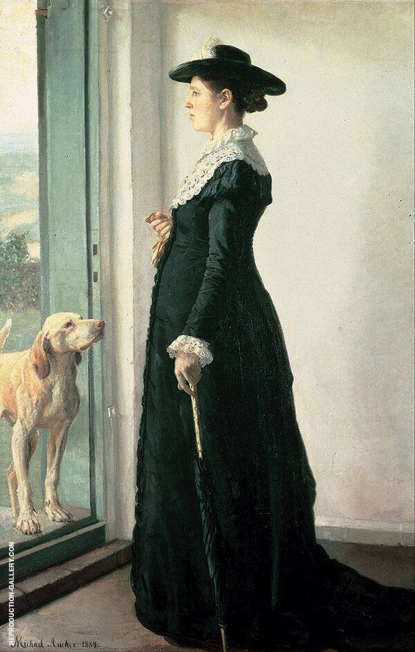 Portrait of my Wife The Painter Anna Ancher By Michael Peter Ancher