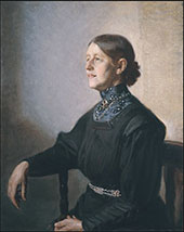 Portrait of The Artist's Wife The Painter Anna By Michael Peter Ancher