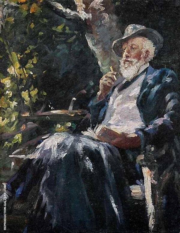 Portrait of The Danish Painter and Poet Holger Drachmann Painting By ...
