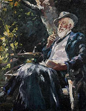 Portrait of The Danish Painter and Poet Holger Drachmann By Michael Peter Ancher