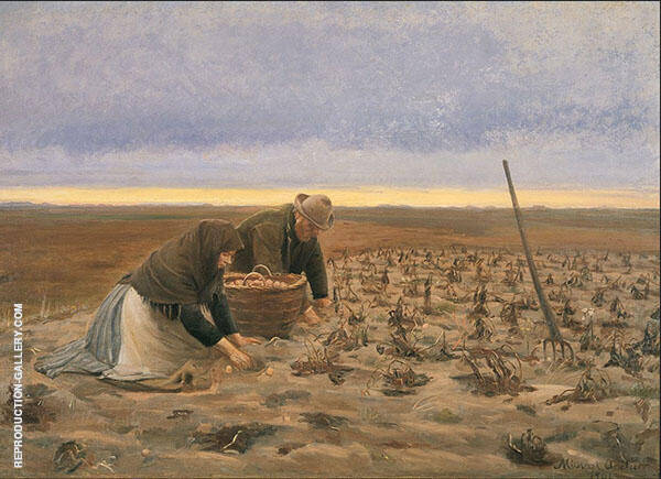 Potato Harvest Painting By Michael Peter Ancher - Reproduction Gallery