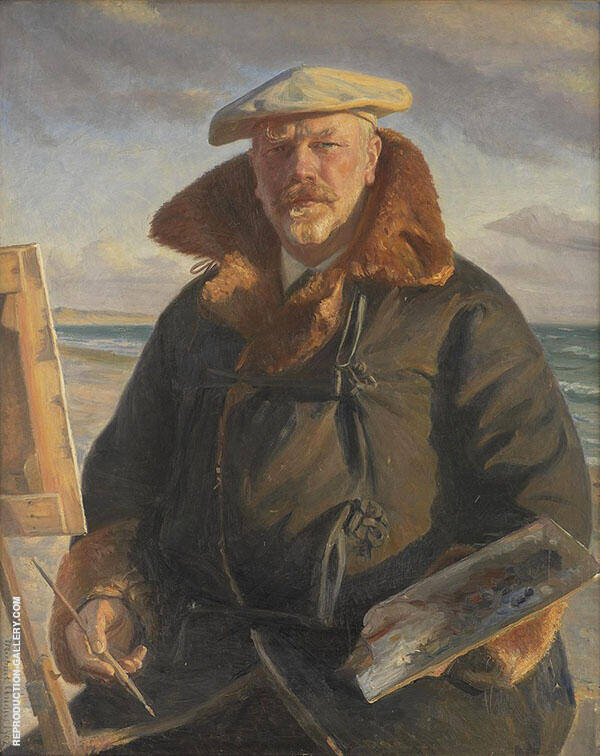 Self Portrait 1902 Painting By Michael Peter Ancher - Reproduction Gallery
