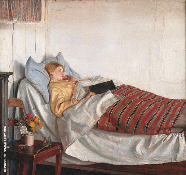 The Sick Girl 1882 Painting By Michael Peter Ancher - Reproduction Gallery