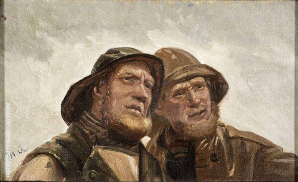 Two Fishermen Painting By Michael Peter Ancher - Reproduction Gallery