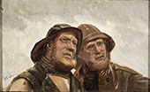 Two Fishermen By Michael Peter Ancher