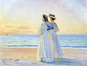 Two Women on The Beach at Skagen By Michael Peter Ancher