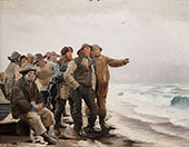 Will He Round The Point By Michael Peter Ancher