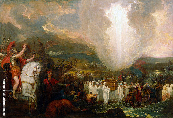Joshua Passing the River Jordan with the Ark of the Covenant 1800 Painting By ...