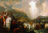 Joshua Passing the River Jordan with the Ark of the Covenant 1800 By Benjamin West
