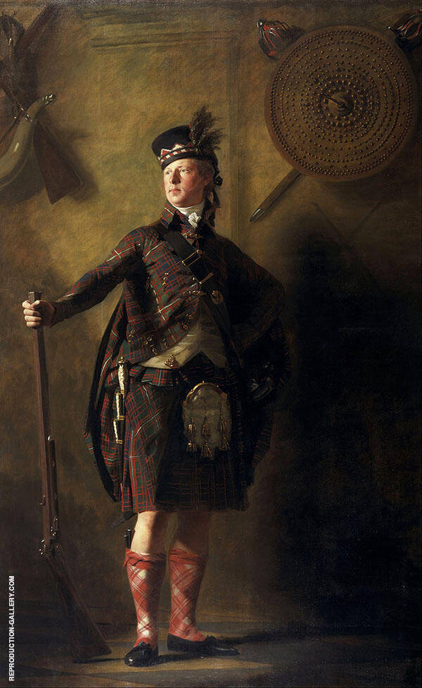 Portrait of Alexander Ranaldson Macdonell of Glengarry 1812 By Sir Henry Raeburn