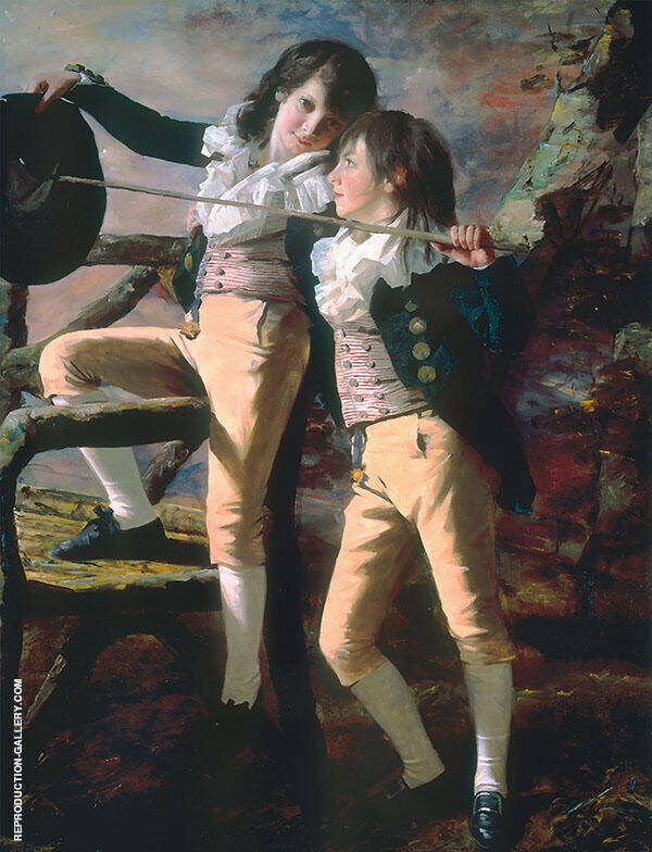 Portrait of James and John Lee Allen 1790 By Sir Henry Raeburn