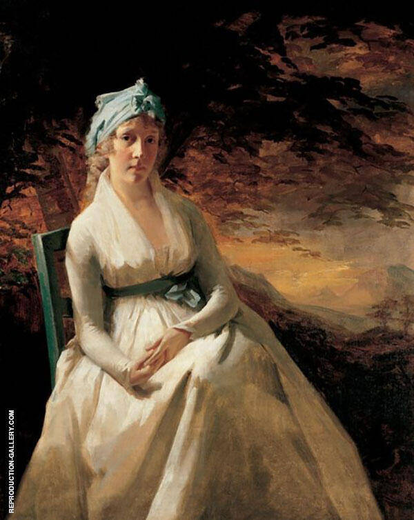 Portrait of Mrs. Andrew Elizabeth Robinson Hay By Sir Henry Raeburn