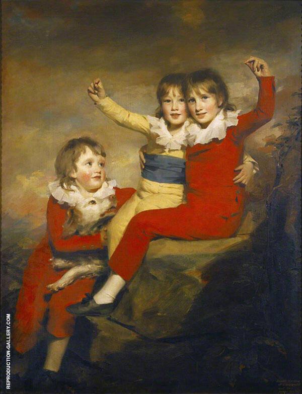 The Macdonald Children Painting By Sir Henry Raeburn