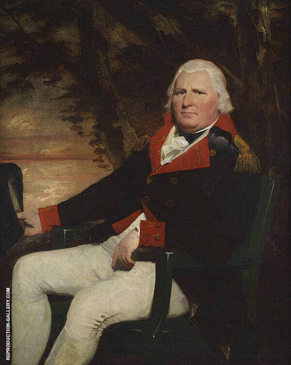 Three Quarter Seated Portrait of an Officer of The Madras Artillery By Sir Henry Raeburn