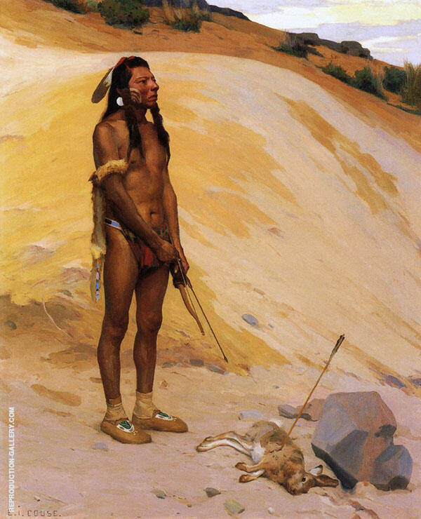 An Indian Hunter By E. Irving Couse