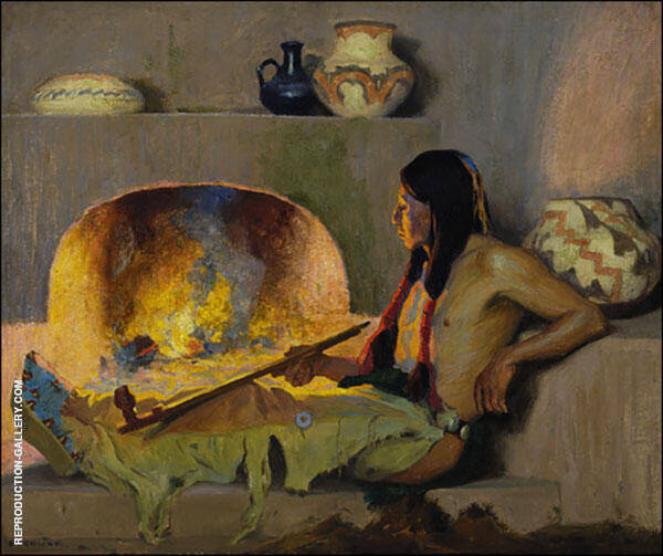 Contentment By E. Irving Couse