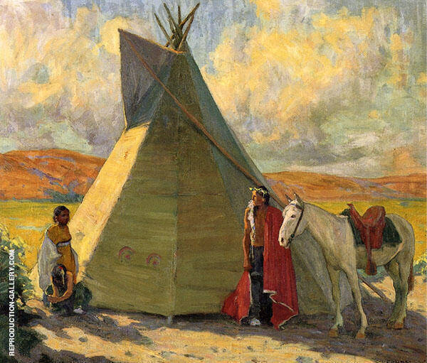 Crow Tent c1918 By E. Irving Couse