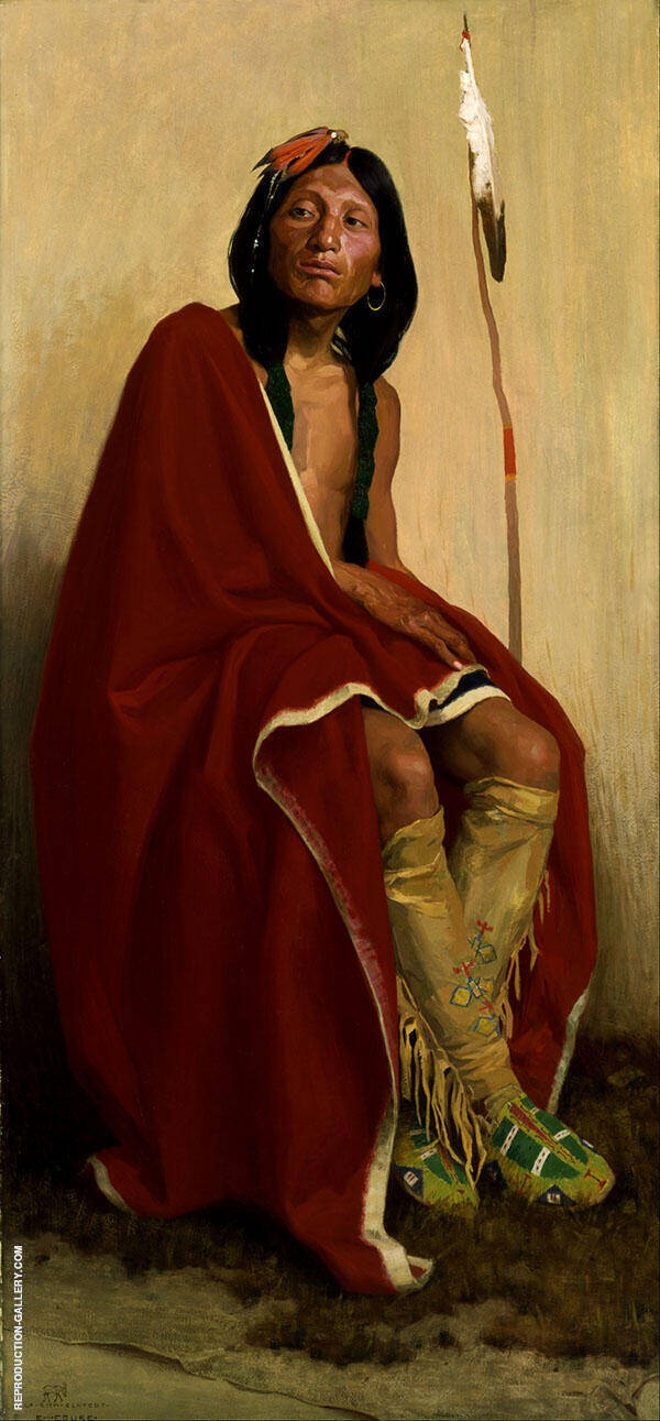Eanger Irving Couse Elk Foot of The Taos Tribet By E. Irving Couse