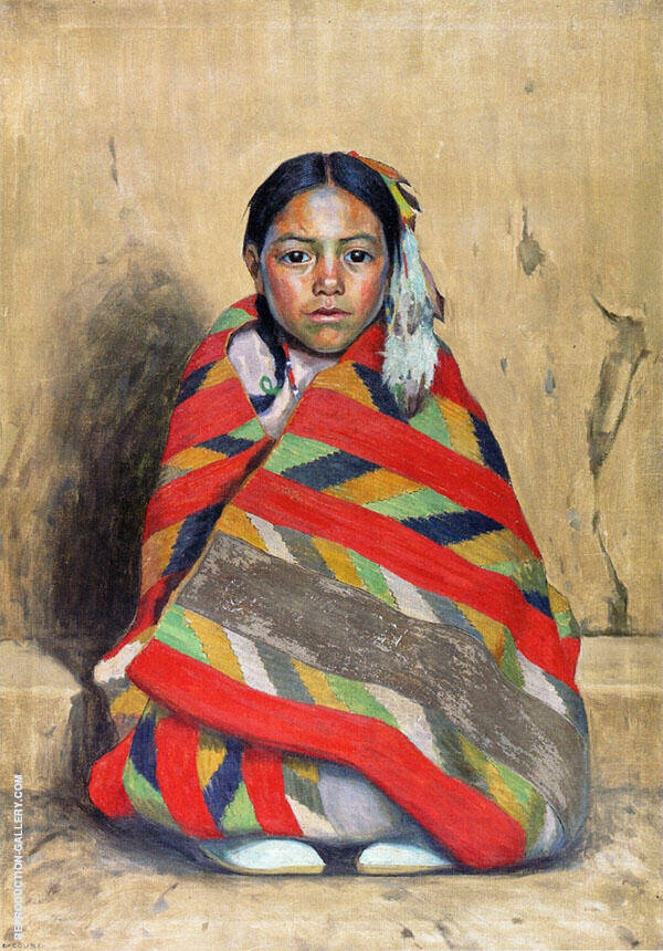 Indian Girl in A Blanket 1921 By E. Irving Couse