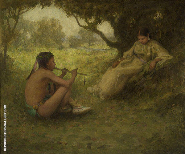 Lovers Indian Love Song By E. Irving Couse