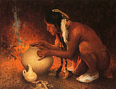 Making Pottery By E. Irving Couse