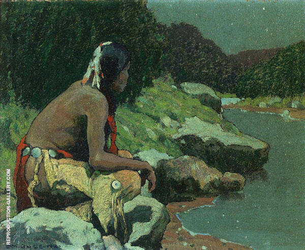 Moonlight on The Hondo 1928 By E. Irving Couse