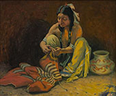 The Blanket Mender c1934 By E. Irving Couse