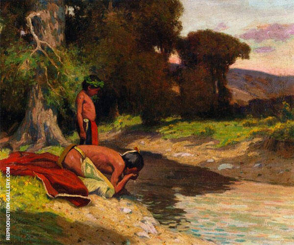 The Cooling Stream By E. Irving Couse
