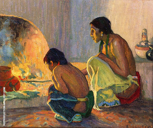 The Evening Meal c1918 By E. Irving Couse