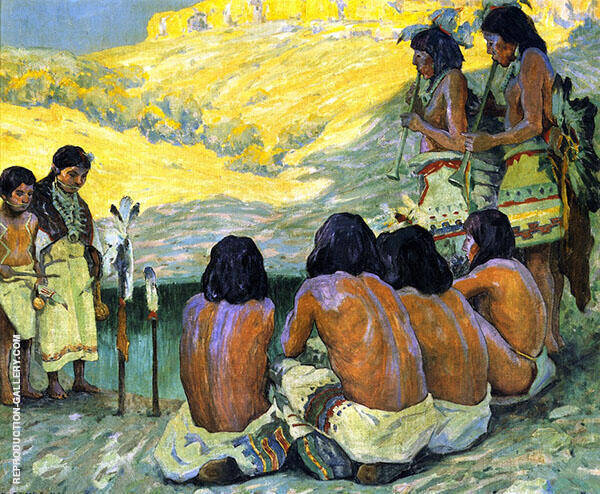 The Flute Ceremony 1922 By E. Irving Couse