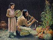 The Harvest Song c.1920 By E. Irving Couse