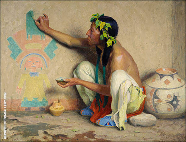 The Kachina Painter 1917 By E. Irving Couse